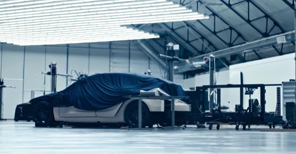 Tesla releases new video with mystery car, new next-gen Roadster footage in action.